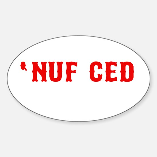 NUF CED Oval Decal