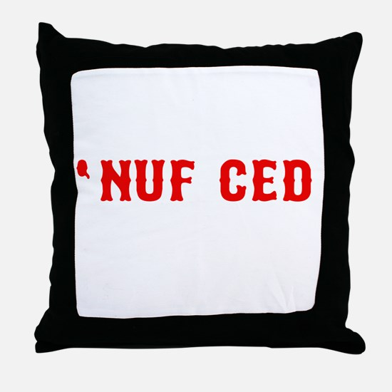 NUF CED Throw Pillow