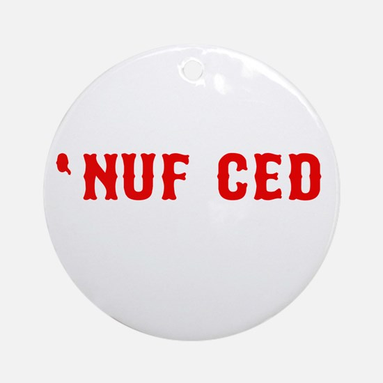 NUF CED Ornament (Round)