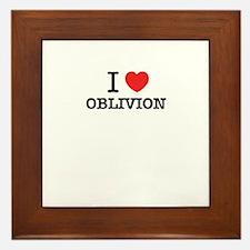 I Love OBLIVION Framed Tile