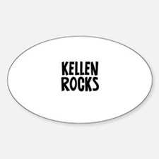 Kellen Rocks Oval Decal