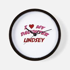I Love My Daughter Lindsey Wall Clock