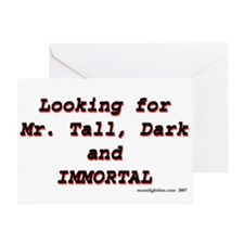 Looking for Mr Tall Dark and Greeting Card