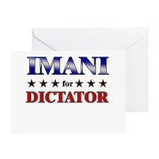 IMANI for dictator Greeting Card