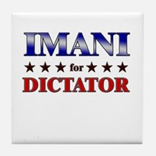 IMANI for dictator Tile Coaster