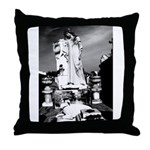 New Orleans cemetery art: mo Throw Pillow