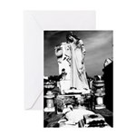 New Orleans cemetery art: mo Greeting Card