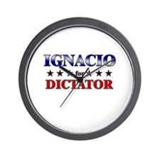 IGNACIO for dictator Wall Clock