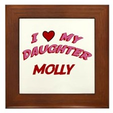 I Love My Daughter Molly Framed Tile