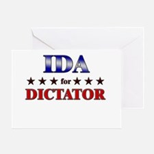 IDA for dictator Greeting Card