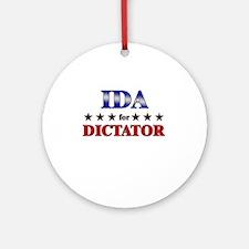 IDA for dictator Ornament (Round)