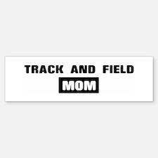 TRACK AND FIELD mom Bumper Car Car Sticker
