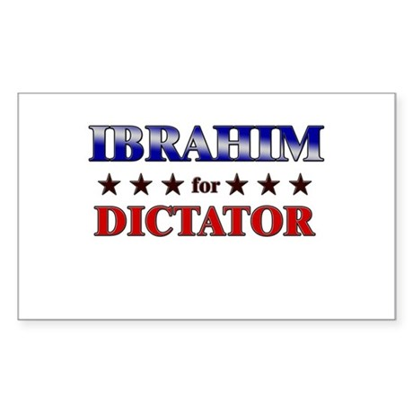 IBRAHIM for dictator Rectangle Sticker