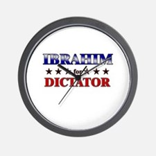 IBRAHIM for dictator Wall Clock