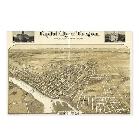 Salem Old Map Postcards (Package of 8)