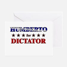 HUMBERTO for dictator Greeting Card