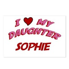 I Love My Daughter Sophie Postcards (Package of 8)
