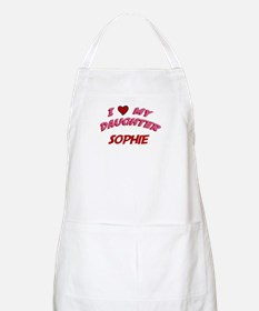 I Love My Daughter Sophie BBQ Apron