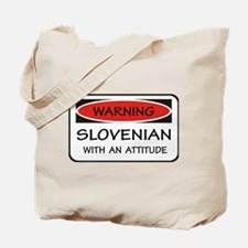 Attitude Slovenian Tote Bag
