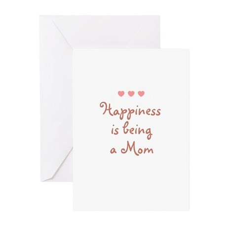 Happiness is being a Mom Greeting Cards (Pk of 10)