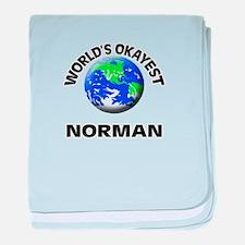 World's Okayest Norman baby blanket