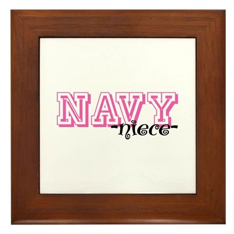 NAVY Niece - Jersey Style Framed Tile