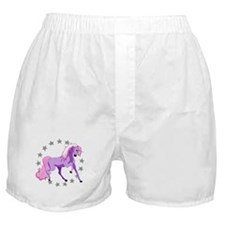 Purple Unicorn Boxer Shorts