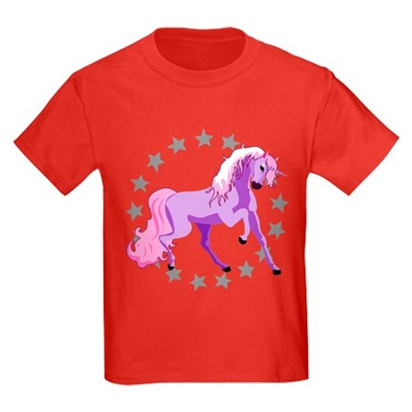 Purple Unicorn Kids Dark T-Shirt