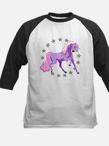 Purple Unicorn Kids Baseball Jersey
