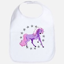Purple Unicorn Bib
