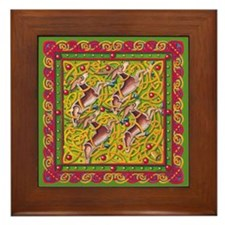Celtic Reindeer Framed Tile