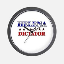 HELENA for dictator Wall Clock