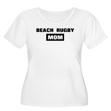 BEACH RUGBY mom Women's Plus Size Scoop Neck T-Shi