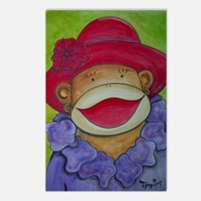 Red Hat Sock Monkey Postcards (Package of 8)