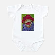 Red Hat Sock Monkey Infant Bodysuit