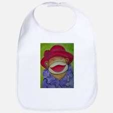 Red Hat Sock Monkey Bib
