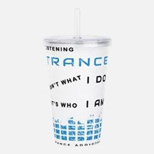Trance Music Acrylic Double-wall Tumbler
