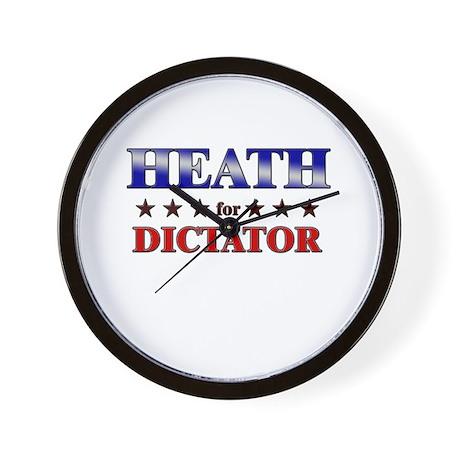 HEATH for dictator Wall Clock
