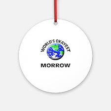 World's Okayest Morrow Round Ornament