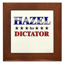 HAZEL for dictator Framed Tile