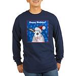 Schmoe Santa Rabbit Long Sleeve Dark T-Shirt