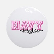 NAVY Dghtr - Jersey Style Ornament (Round)