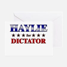 HAYLIE for dictator Greeting Card