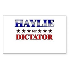 HAYLIE for dictator Rectangle Decal