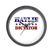 HAYLIE for dictator Wall Clock