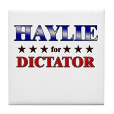 HAYLIE for dictator Tile Coaster