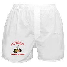 ...Under The Mistletoe Boxer Shorts