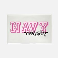 NAVY Cousin - Jersey Style Rectangle Magnet