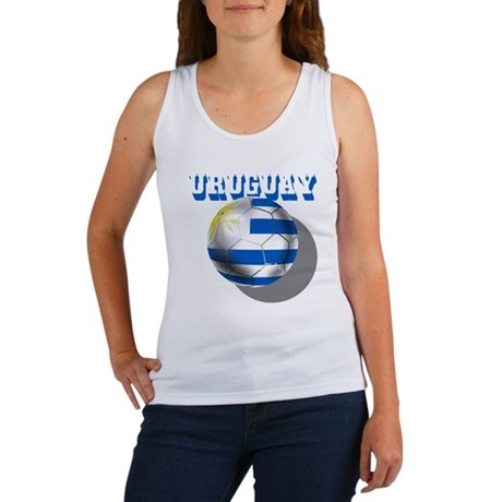 Uruguay Soccer Ball Women's Tank Top