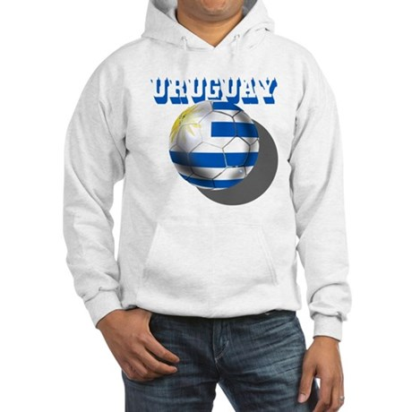 Uruguay Soccer Ball Hooded Sweatshirt